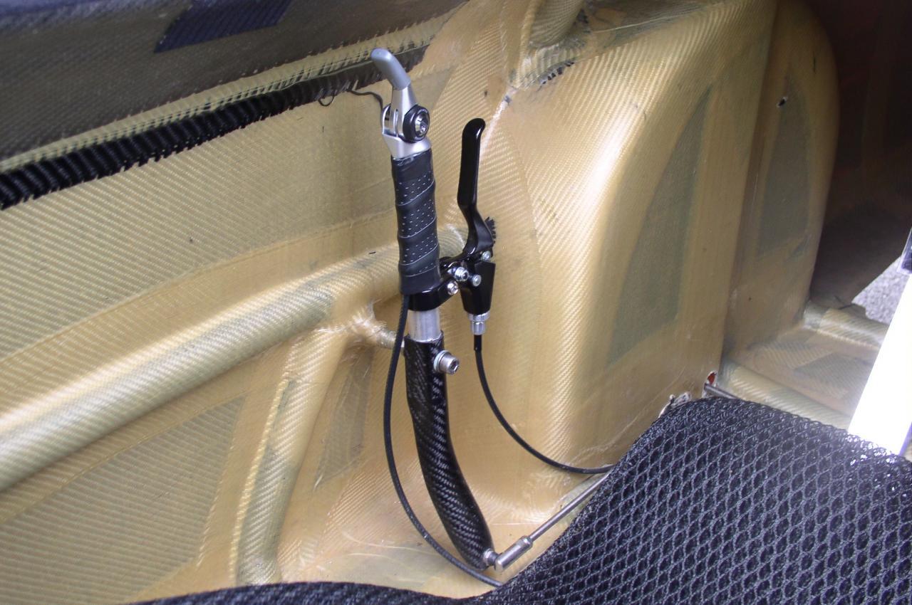 Mannette de commande du vélomobile WAW